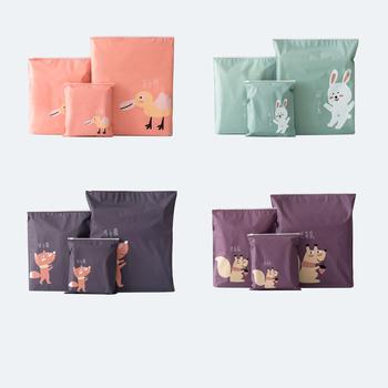 Luraka torby do przechowywania 3 sztuk podróży przenośne różne torba do przechowywania Cartoon wzór wodoodporny pasek torby przechowywanie odzieży torby tanie i dobre opinie 6 drutu Szafa Składane Ekologiczne Zaopatrzony Tkaniny Włókno bambusowe Trójwymiarowy typu Mieszkanie typ Multiple specifications