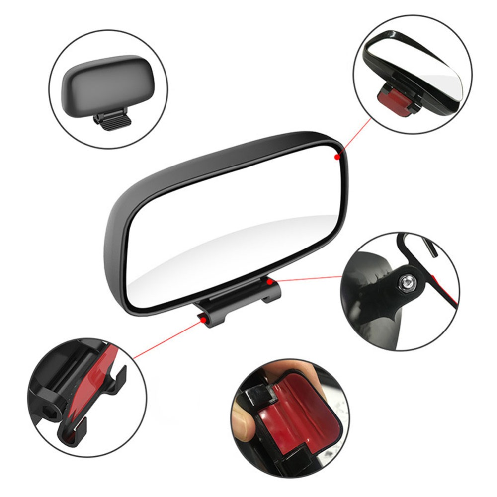 Rotation Adjustable Rearview Mirror Wide Angle Lens Car Blind Spot Mirror 4