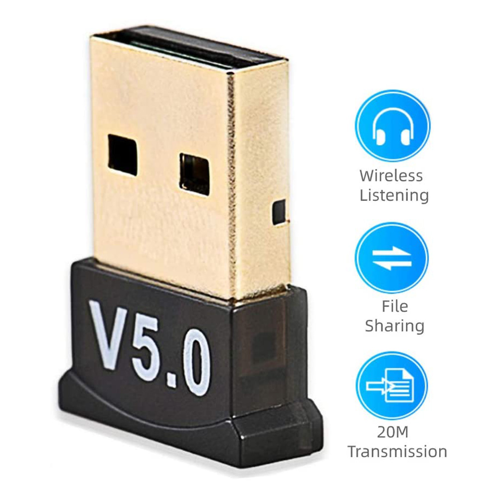 USB Bluetooth Adapter for Mouse Keyboard Bluetooth 5.0 Wireless Audio Receiver Transmitter for PC