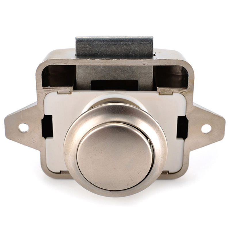 10Pcs Camper Car Push Lock 26Mm Rv Caravan Boat Motor Home Cabinet Drawer Latch Button Locks for Furniture Hardware