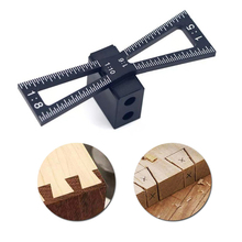 Dovetail Marker Aluminum Alloy Hand Cut Wood Joints Gauge Dovetail Guide Tool With Scale Dovetail Template Size Marker Tools grus s7934 16cm black dovetail plate new guide star finder platform board