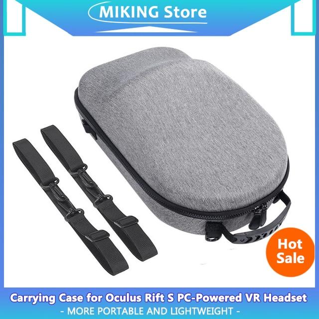Taşınabilir sert EVA çanta koruyucu kapak saklama kutusu taşıma çantası kılıfı Oculus yarık için S PC güçlü VR oyun kulaklığı