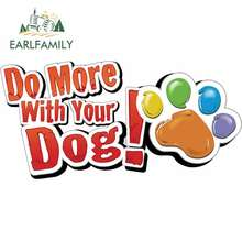 EARLFAMILY 13cm x 6.5cm for Do More with Your Dog Fine Car S