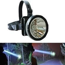 Суперъяркий налобный фонарь светодиодный со встроенным аккумулятором