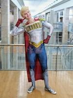 Lemillion Cosplay Costume My Hero Academia Mirio Togata Suit spandex Jumpsuit and Cape