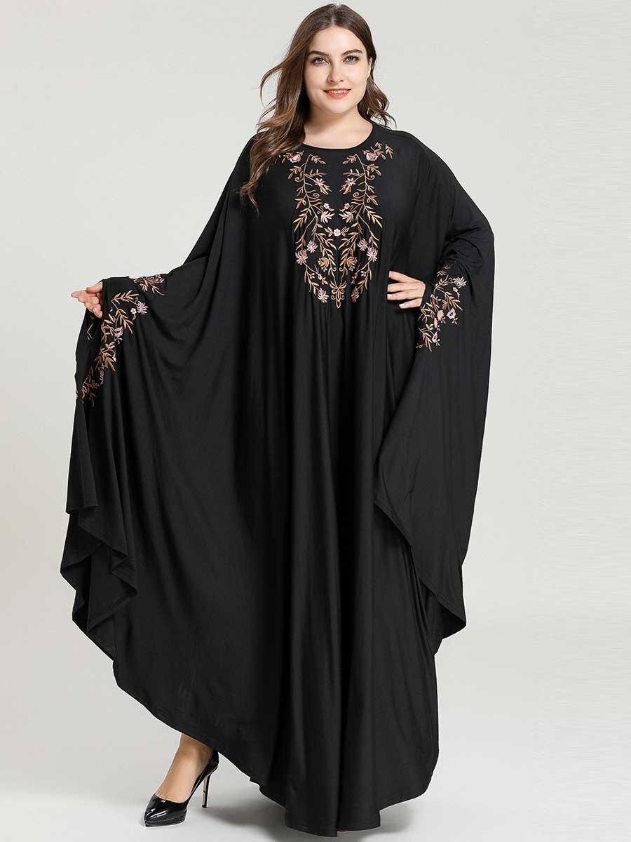 Black Dubai Abaya Hijab Muslim Dress Niqab Turkish Islam Clothing For Women Kaftan Caftan Robe Djelaba Grote Maten Dames Kleding