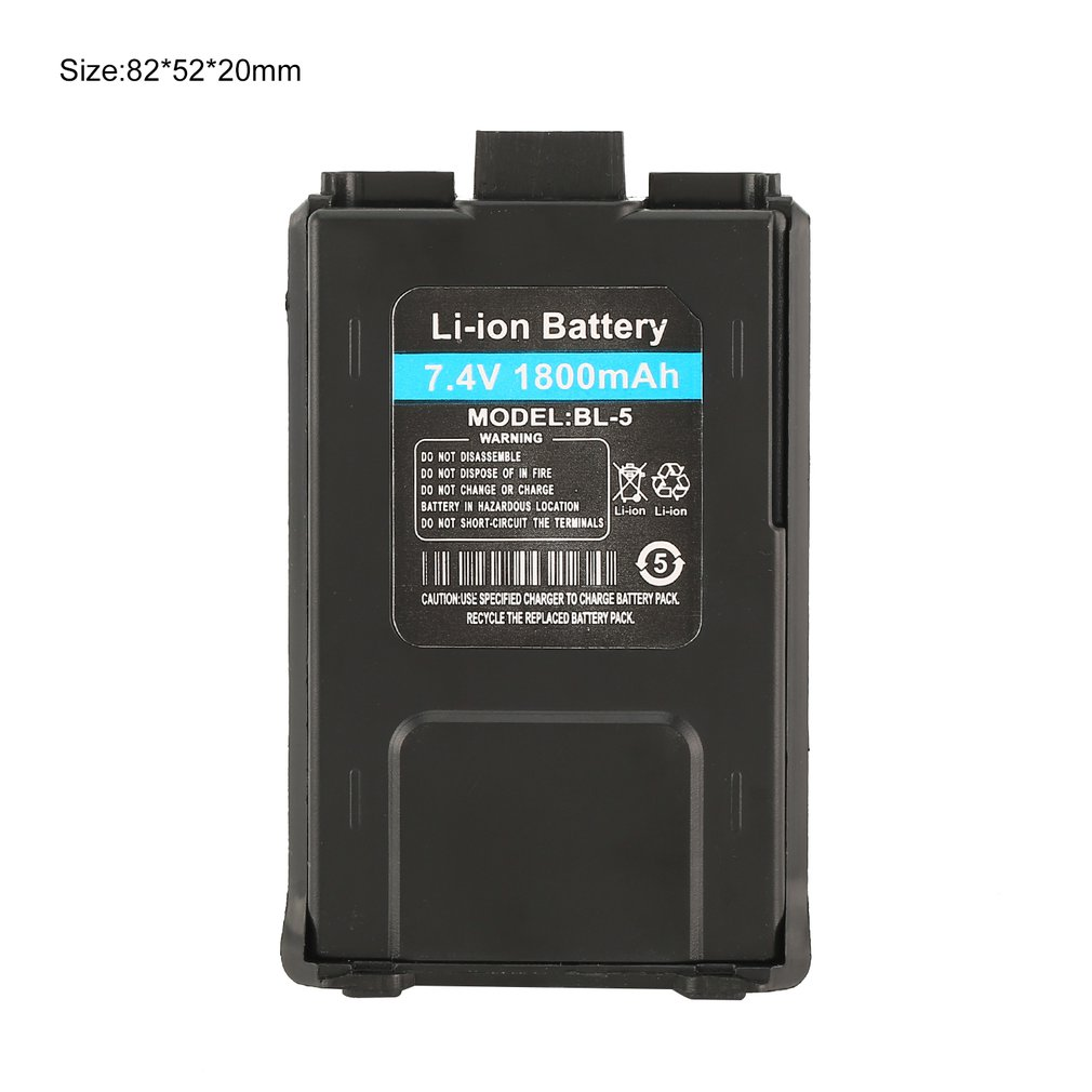 1800mAh Li ion Battery For Baofeng UV 5R UV 5RE Walkie Talkie Two Way Radio in Walkie Talkie from Cellphones Telecommunications