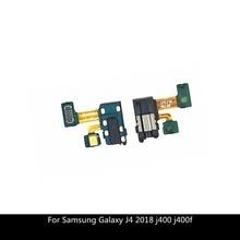 Gniazdo słuchawkowe słuchawki Audio mikrofon Flex Cable do Samsung Galaxy J4 2018 j400 j400f Audio Jack Flex części zamienne
