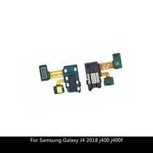 Oortelefoon Jack Hoofdtelefoon Audio Microfoon Flex Kabel Voor Samsung Galaxy J4 2018 J400 J400f Audio Jack Flex Vervangende Onderdelen