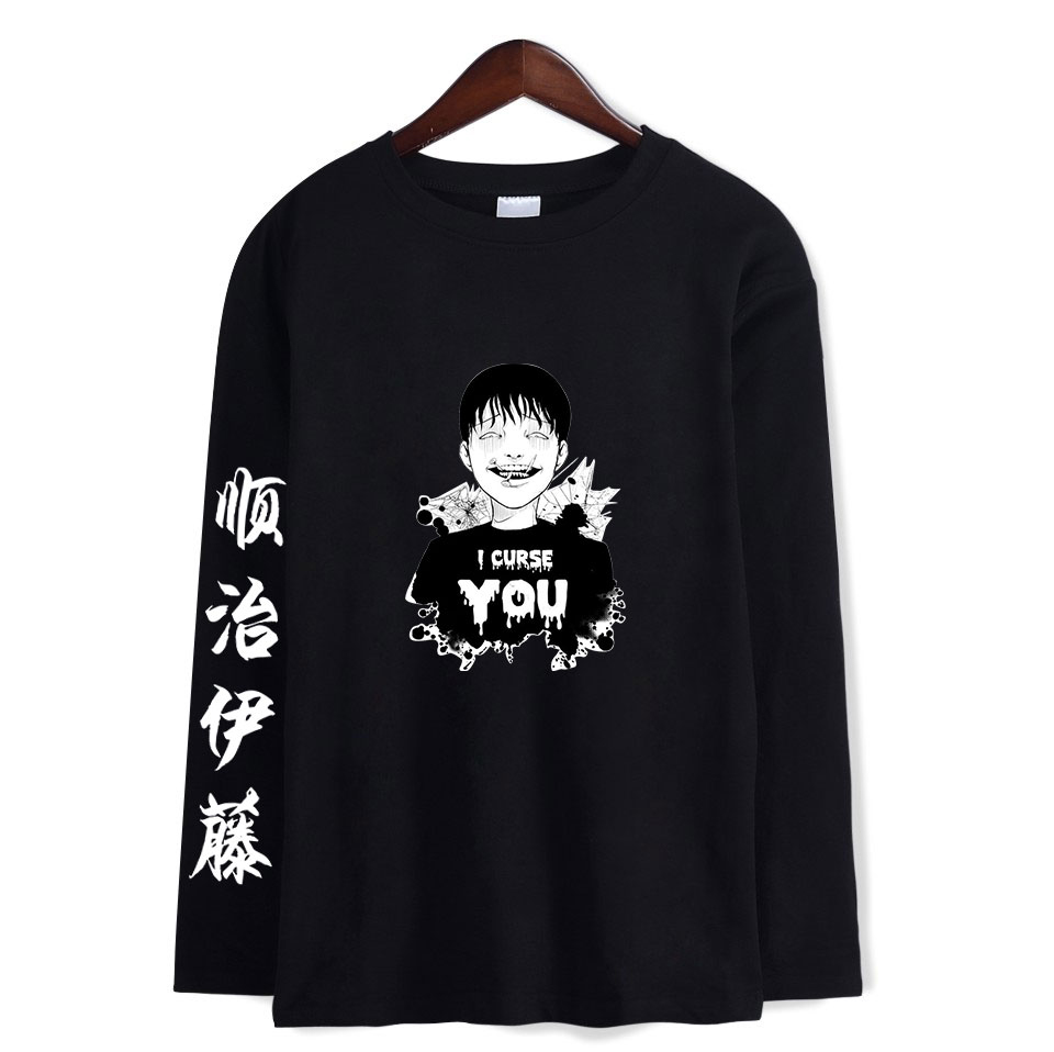 Japan Cartoonist Junji Ito 2D Fashion Printed T-shirts Women/Men Long Sleeve Haraju Casual Tshirts 2019  Hot Sale   T Shirt