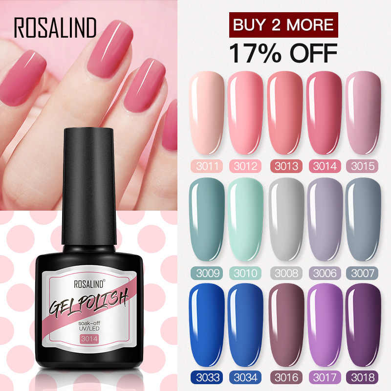 ROSALIND Del Gel Del Chiodo Smalto Semi Permanente UV Del Gel 8ML Hybrid Vernici Soak Off Nails Art Tutti Per Manicure Prodotti Per Superficie E Smalti gellak Smalto