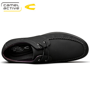 Image 3 - 낙타 활성 새로운 정품 가죽 남성 신발 여름 가을 비즈니스 캐주얼 신발 경량 편안한 레이스 업 편안한 신발