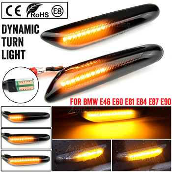 2pcs/lot Dynamic LED Side Marker Turn Signal Lights For BMW E90 E91 E92 E93 E60 E87 E82 E46 Sequential Blinker Light Emark image