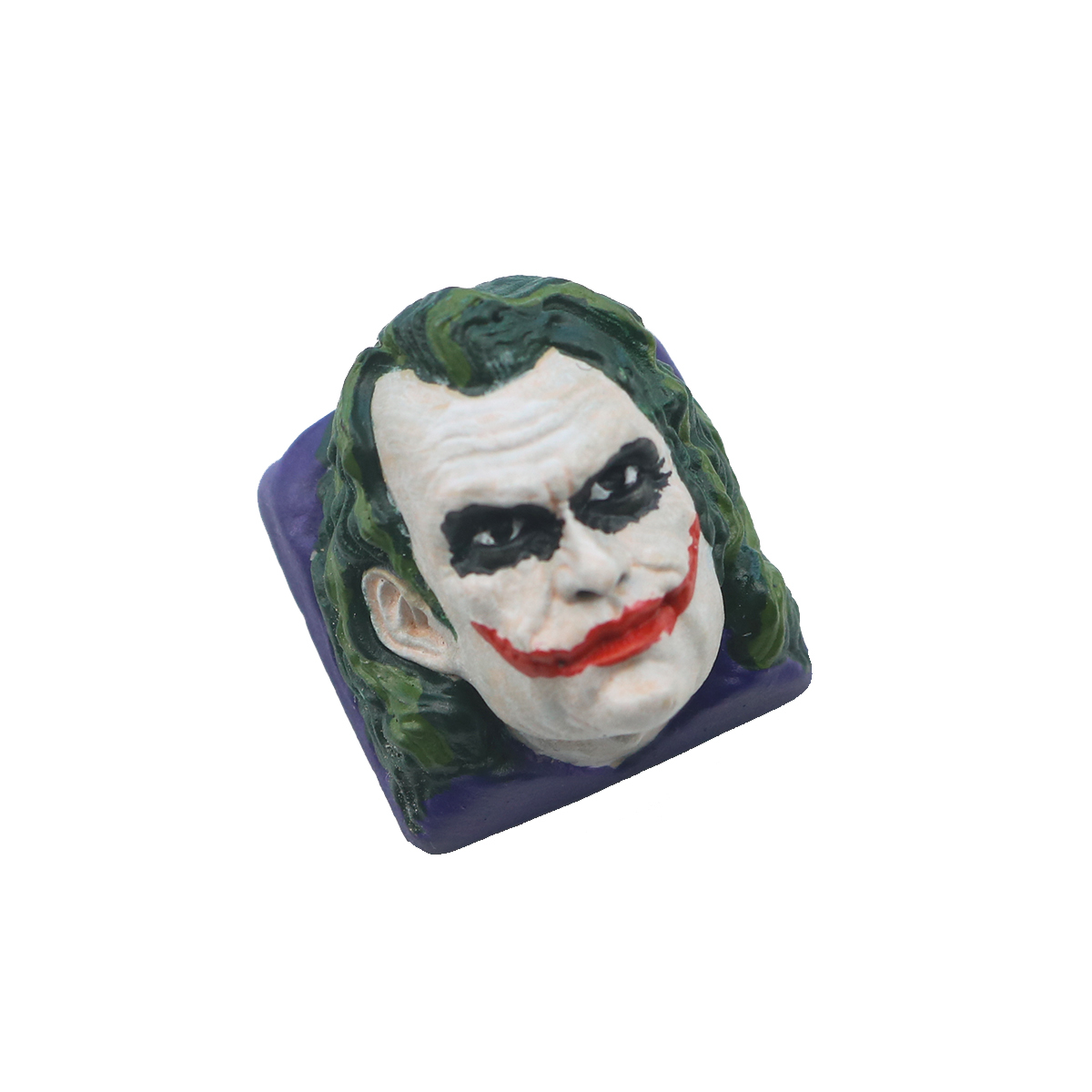 1pc Heath Ledger Joker Manual Resin Keycap For MX Switch Mechanical Keyboard Personality Key Cap For Batman