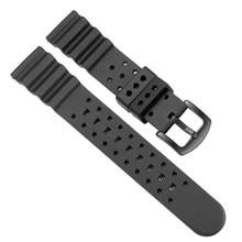 Tropic silikon gummi Uhr Strap 20 22 24mm Wasserdicht und atmungs Fluororubber Tauchen Armband Für Jede Uhr Marke