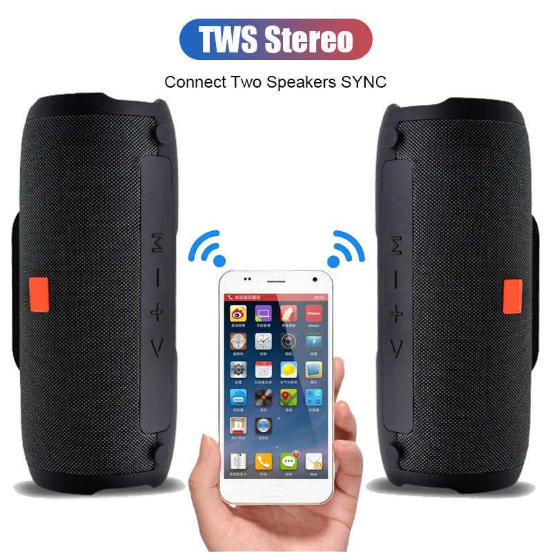 E13 Speaker Portabel Bluetooth Nirkabel Stereo Big Power 20W Sistem TF FM Radio Musik Subwoofer Speaker untuk Komputer