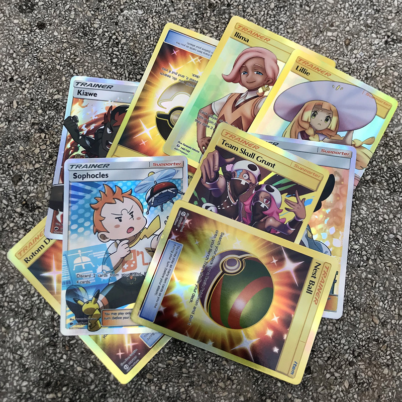 200pcs Flash Trading Battle GX MEGA EX Trainer English Card Game Fight Charizard Venusaur Rare Collect Kid Gift Xmas Game Toy
