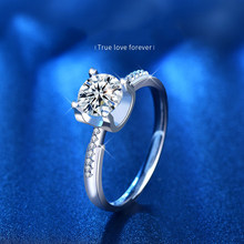1ct 2ct D color charms luxury anniversary wedding engagement moissanite ring beads woman jewelry gift