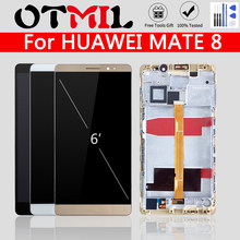 "Original NXT-L29 6.0 ""LCD Für HUAWEI Mate 8 LCD Touch Screen Rahmen Digitizer Ersatz Für HUAWEI Mate 8 Display batterie Abdeckung(China)"