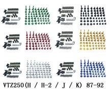 Motorcycle Complete Fairing Bolts Kit Bodywork Screws For Fit  HONDA   VTZ250(H / H-2 / J / K)  87-92 j h schmelzer sonata for 2 violins and continuo