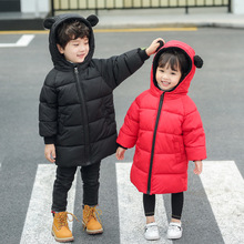 HH Toddler Girls winter coat Down Jackets baby Boy Coats Children Clothing Warm Long Snowsuit Clothes Casual Kids Outerwear стоимость