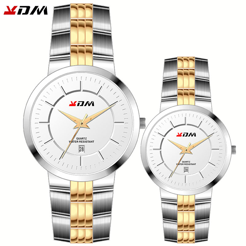 Couple Watches Lovers Best Gift Luxury Male And Femme Pair Horloges Waterproof Full Steel King And Queen Simple Hot Reloj Pareja