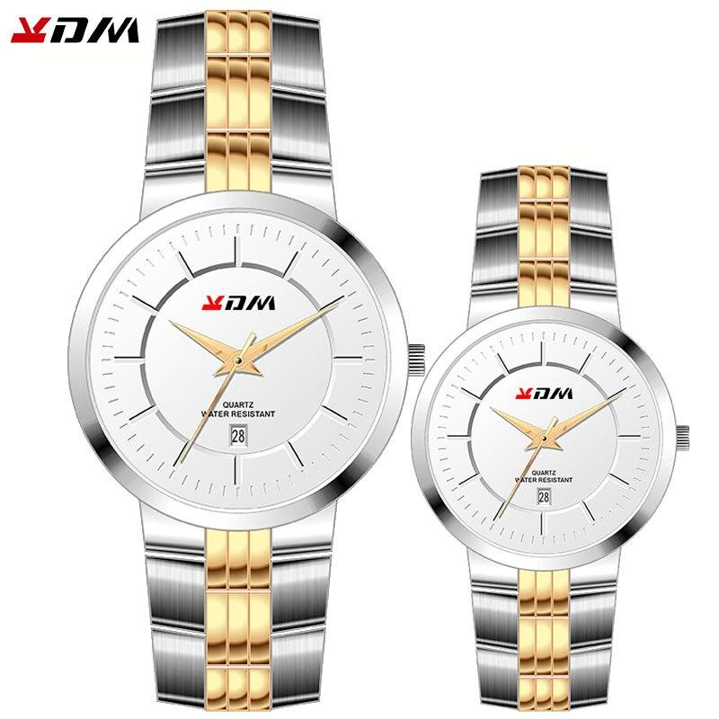 Couple Watches Lovers Best Gift Luxury Male And Femme Pair Horloges Waterproof Full Steel King And Queen Simple Hot Reloj Pareja