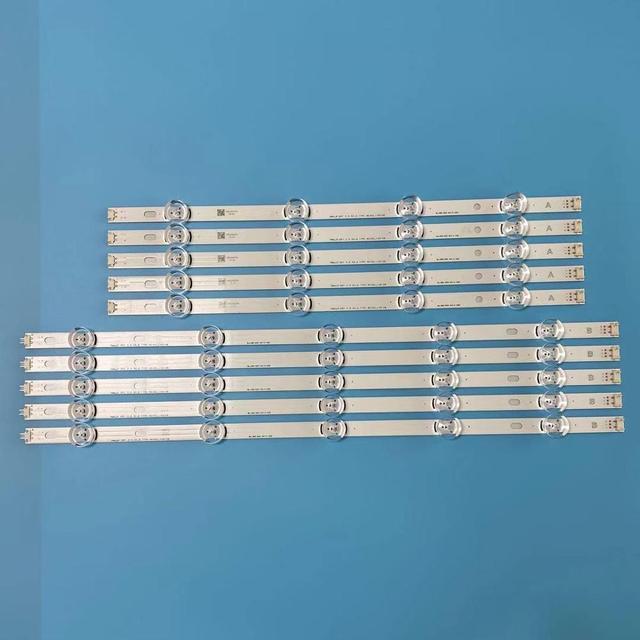 10 יח\סט LED תאורה אחורית רצועת מערך עבור LG טלוויזיה 50LB650V Innotek DRT 3.0 50 AB 6916L 1736A 1735A 1978A 1979A LC500DUE
