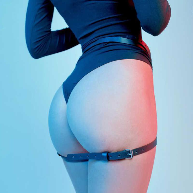 Gorący bubel skórzany pas do pończoch seksowna pasy do pończoch fetysz podwiązki dla kobiety nogi uprząż Bdsm pończochy damskie erotyczne pas piękny Xun