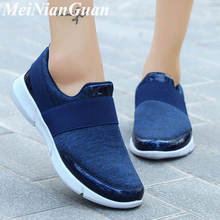 Lightweight Sneakers Women Big Size Mesh Breathable Running Shoes Slip on Women'