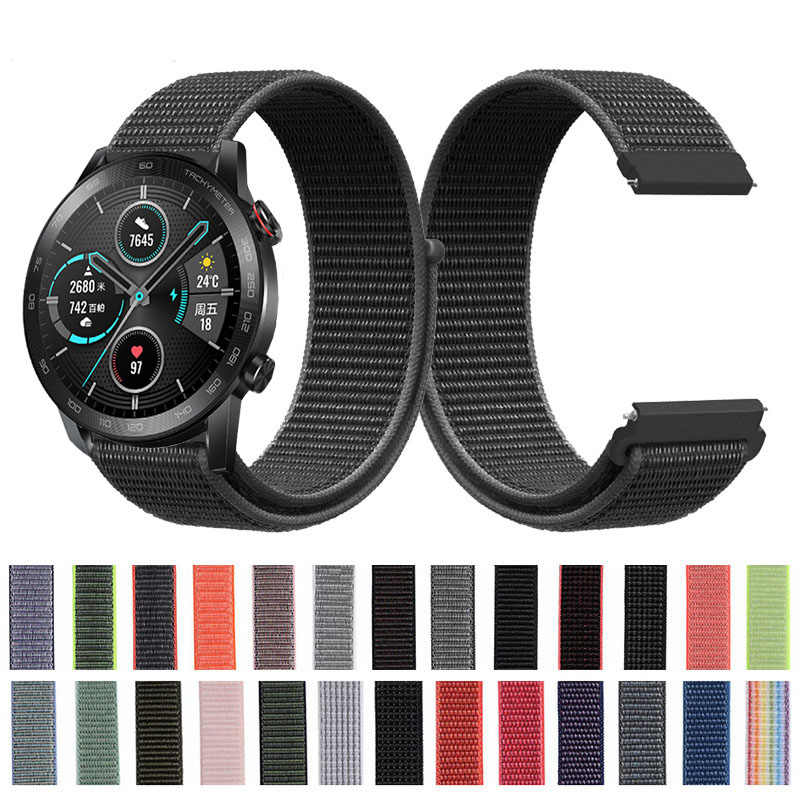 Correa de nailon para Huawei Honor Magic Watch 2 46mm Nylon suave deportes Lazo de cinta de repuesto para reloj gt 2 46mm gt 2e