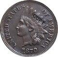 1870 индийская голова центов копия монет
