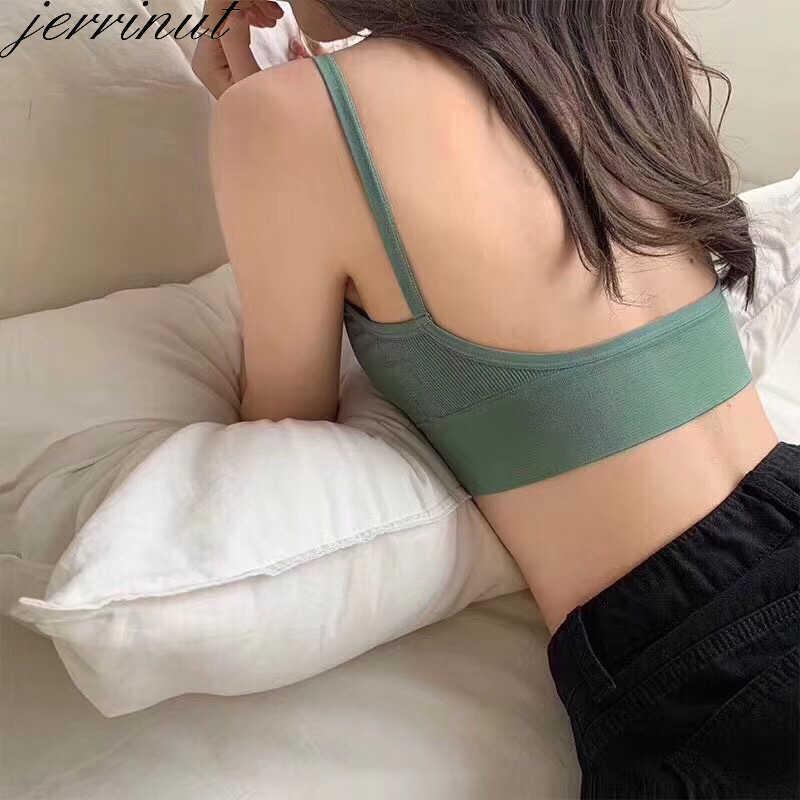 Jerrinut Sexy sujetador ropa interior Bas para mujer Bralette sin costuras acolchado sujetador Lencería algodón sin hilos