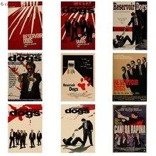 Quentin Tarantino Director Film Poster Falling Dog, Retro Kraft Decorative Movie Wall Sticker