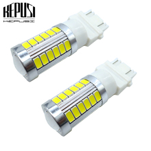 2x LED Car light 3157 3757 5630 Chips Auto Car External Side Marker Parking Turn Signal Light DRL Bulb Brake Tail Lamp  white 2x 1157 ba15d bulb 33 smd 5630 led brake turn signal light lamp white auto car led parking lights 6000k white auto lamp led lamp