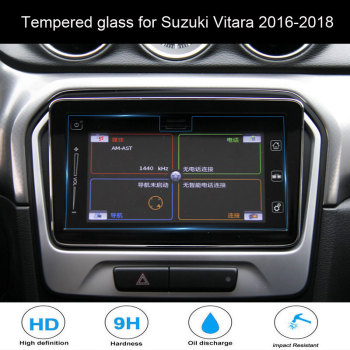 For Suzuki Vitara 2016-2018 Car styling Navigation Tempered Glass Screen Protector Steel Portective Auto Accessories image