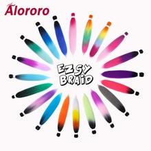 Alororo Jumbo Braid Synthetic Hair Extensions Braiding Fake