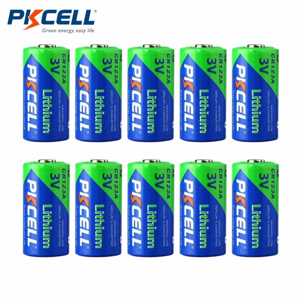 PKCELL 10 unids/set de alto rendimiento CR123A 3,0 V 1500MAH batería de litio no recargable batería duradera para linterna LED 3S 20A 18650 Li-ion cargador de batería de litio Placa de protección 10,8 V 11,1 V 12V 12,6 V eléctrico 10A Lipo BMS PCB módulo PCM