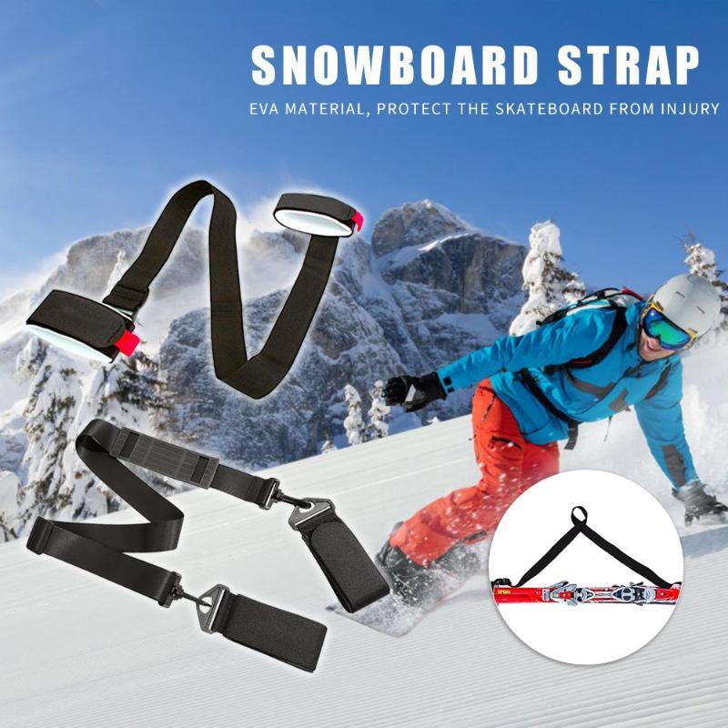 Adjustable Skiing Pole Shoulder Hand Carrier Lash Handle Straps Porter Hook Loop Protecting Ski Handle Strap