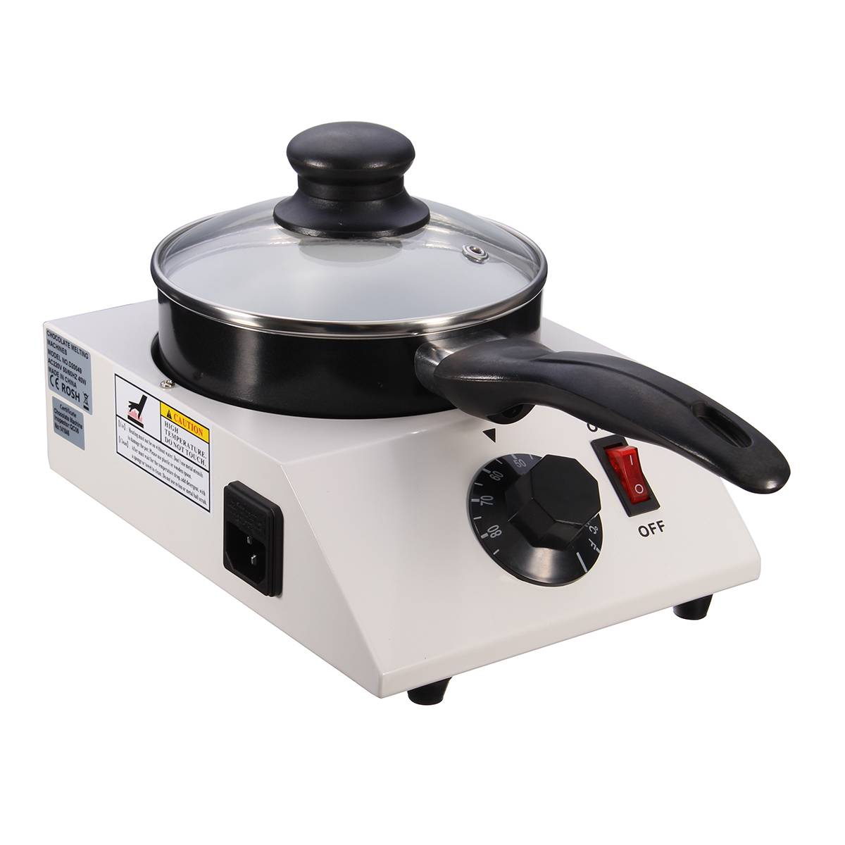 Electric Chocolate Cheese Melting Machine 40W Mini Ceramic Non-Stick Pot Tempering Cylinder Melter Pan With Single Pan Ceramic