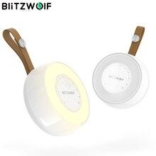 BlitzWolf BW LT22 DC5V 0.5A 3000K светодиодный Ночной светильник с датчиком радара, сенсорным управлением и затемнением, мини светильник с 3 5 м, индукционный радар