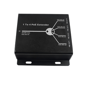 Image 4 - חדש 4 נמל IEEE802.3af PoE Extender עבור IP מצלמה להאריך 120m שידור מרחק עם 10/100M LAN יציאות