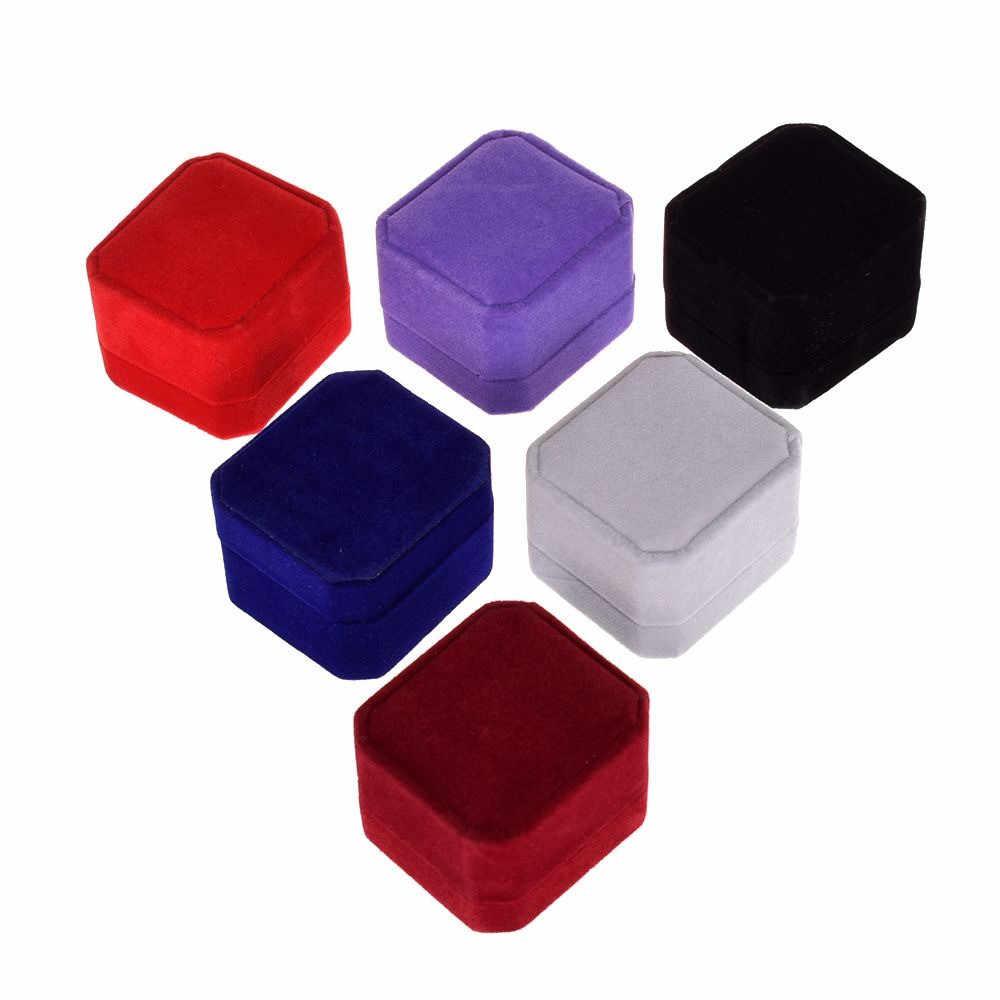 1 PC di Alta Qualità Dei Monili del Velluto Anello Box Orecchino Dei Monili Display Case Holder Scatole Regalo 7 Colori Disponibili Hot Commerci All'ingrosso