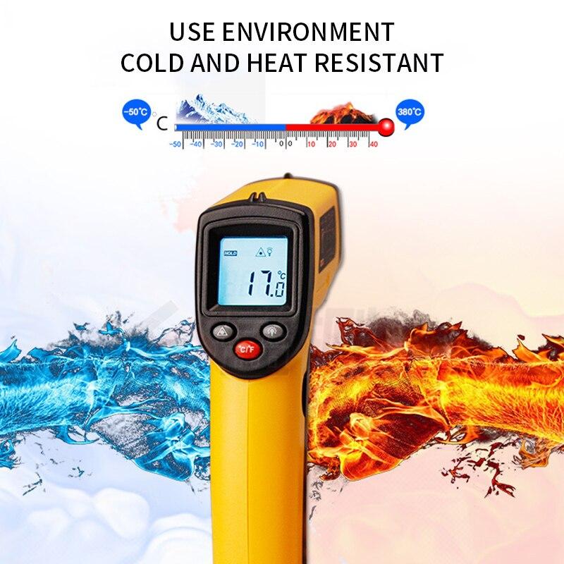 Новый ЖК Инфракрасный термометр GM320 Бесконтактный цифровой пирометр измеритель температуры точка 50 ~ 380 градусов Termometr Приборы для измерения температуры      АлиЭкспресс