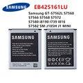 SAMSUNG оригинальная EB425161LU батарея для Samsung GT-S7562L S7560 S7566 S7568 S7572 S7580 i8190 I739 I8160 S7582 SM-J105H J1 мини