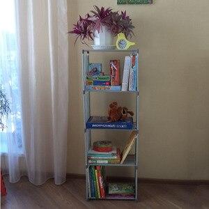 Image 3 - Đơn Giản Kệ Sách Lắp Ghép Sáng Tạo Lưu Trữ Kệ Để Sách Thực Vật Đồ Lặt Vặt DIY Kết Hợp Kệ Sàn Đứng Trẻ Em Tủ Sách