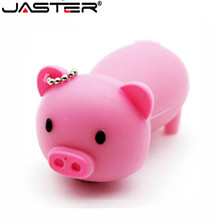 JASTER lovely pig usb flash drive cute cartoon pendrive 4gb 16gb 32gb 64GB memory stick USB 2.0 Gifts beauty animal pendriver