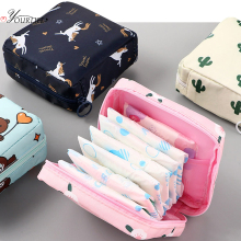 OYOREFD Waterproof Tampon Storage Bag Cute Sanitary Pad Pouches Portable Makeup Lipstick Key Earphone Data Cables Organizer