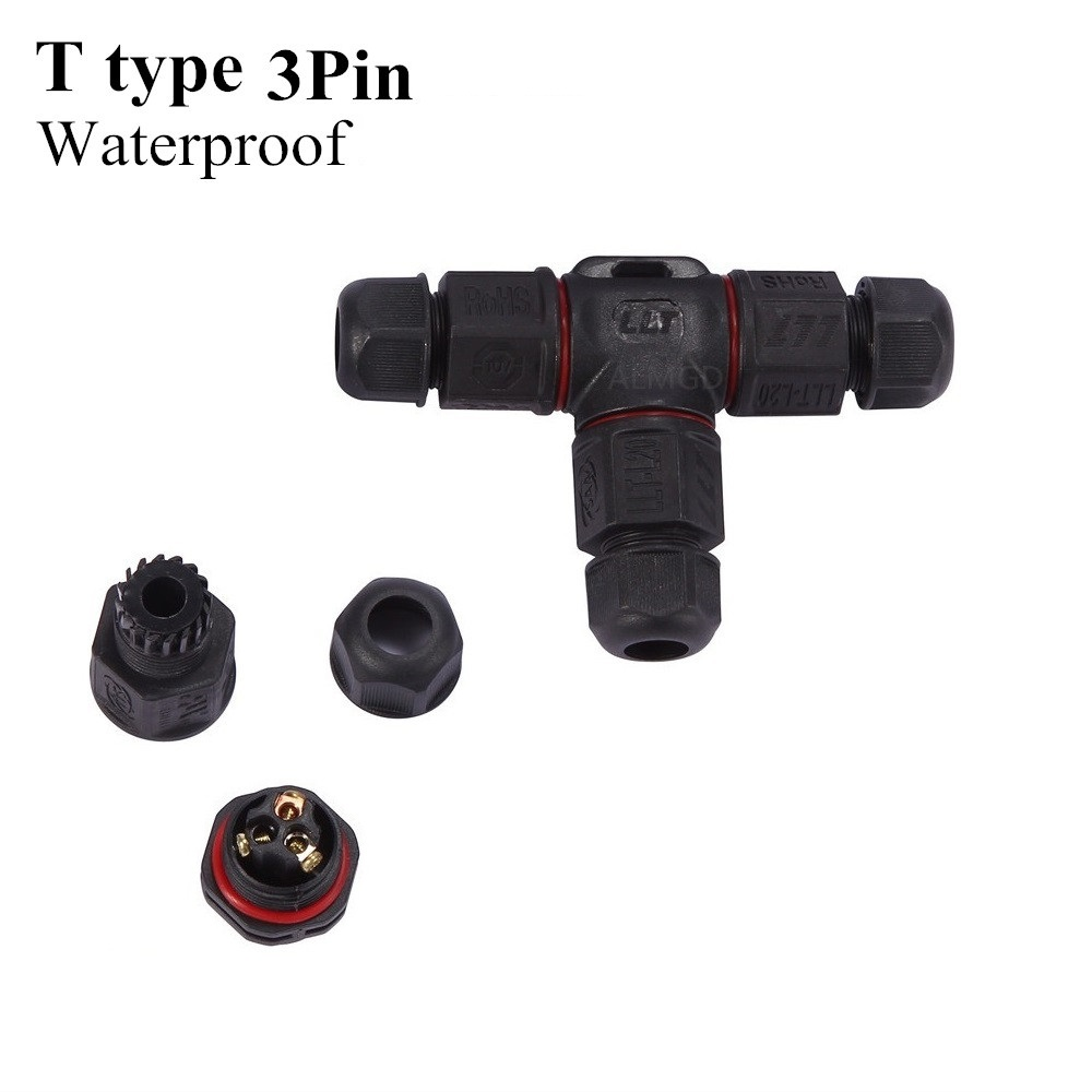 Image 4 - IP67 Waterproof Cable Connector Electrical Terminal Wire Adapter Connector Screw 2pin 3pin for 4/6/7.5/8/10mm wire connectersconnector 2pinconnector screw2pin waterproof connector -