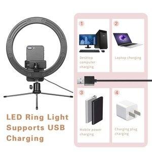 """Image 2 - LED Ring Light 12.6 """"supporto per treppiede supporto per telefono per Streaming Live YouTube dimmerabile trucco fotografia RingLight 3 modalità di illuminazione"""